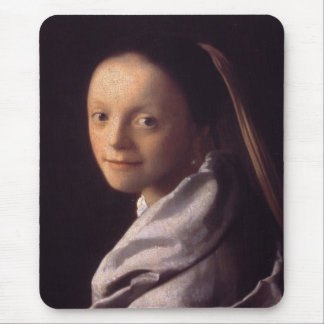 Portrait of a Young Woman Mouse Pad