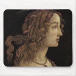 Portrait of a Young Woman Mousepads