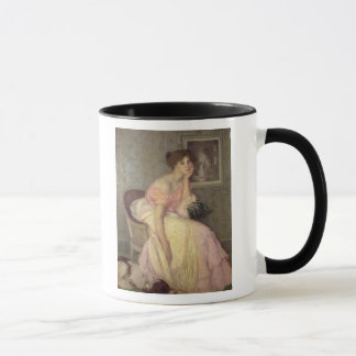 Portrait of a young woman mug