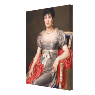 Portrait of a Young Woman Seated Three-Quarter Len Canvas Print
