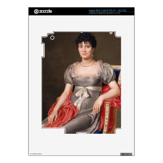 Portrait of a Young Woman Seated Three-Quarter Len Decal For iPad 3