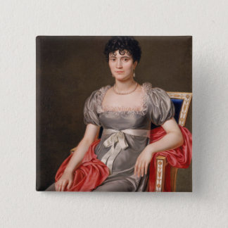 Portrait of a Young Woman Seated Three-Quarter Len Pinback Button