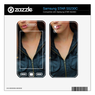 Portrait of a young woman samsung STAR S5230C skin