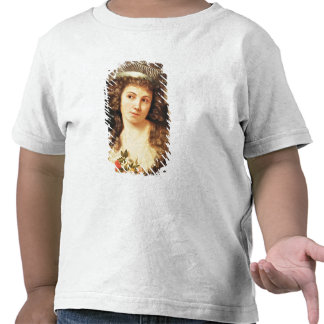 Portrait of a young woman t shirts