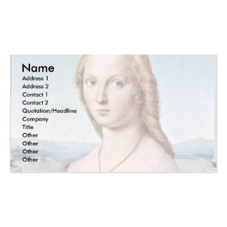 Portrait Of A Young Woman With A Unicorn Business Card