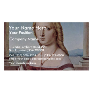Portrait Of A Young Woman With A Unicorn Business Cards