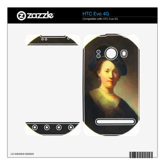 Portrait of a young woman with Beret by Rembrandt Skin For The HTC Evo 4G