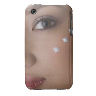 Portrait of a young woman with cream on her iPhone 3 Case-Mate case