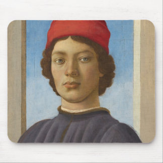 Portrait of a Youth, c.1485 (oil & tempera) Mouse Pad