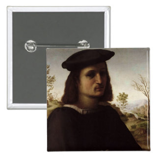 Portrait of a Youth with Gloves, 1514 (oil on pane 2 Inch Square Button