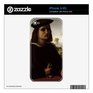 Portrait of a Youth with Gloves, 1514 (oil on pane Decal For The iPhone 4S