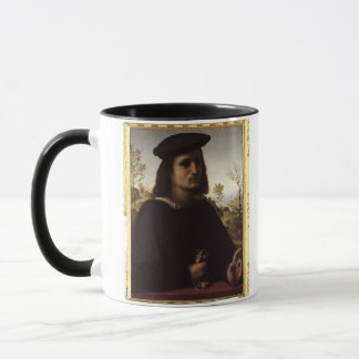 Portrait of a Youth with Gloves, 1514 (oil on pane Mug