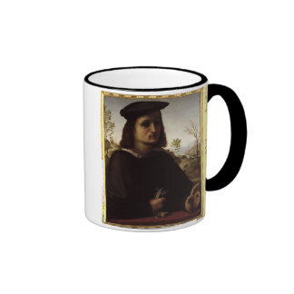 Portrait of a Youth with Gloves, 1514 (oil on pane Coffee Mug