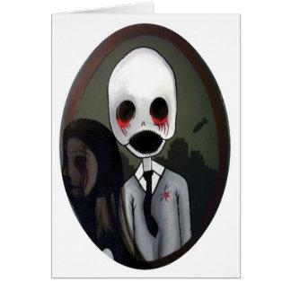 portrait of a zombie card