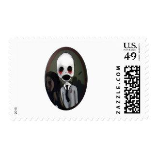 portrait of a zombie postage stamp