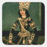 Portrait of Abbas-Minza Square Stickers