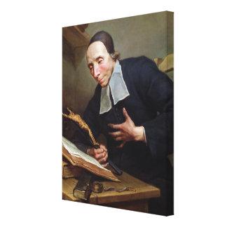 Portrait of Abbot Firmin Tournus Canvas Print