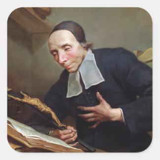 Portrait of Abbot Firmin Tournus Square Sticker