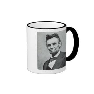 Portrait of Abe Lincoln 1 Ringer Mug