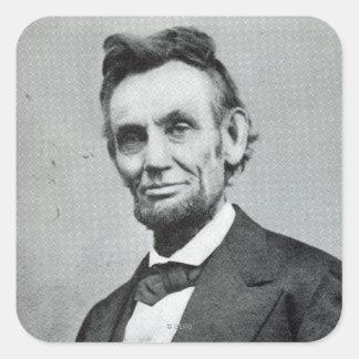 Portrait of Abe Lincoln 1 Square Sticker