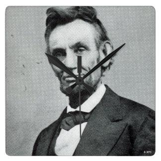Portrait of Abe Lincoln 1 Square Wall Clock