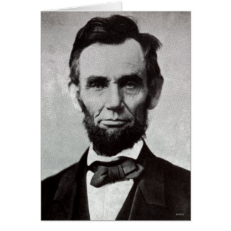Portrait of Abe Lincoln 2 Card