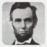 Portrait of Abe Lincoln 2 Square Sticker