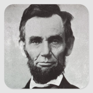 Portrait of Abe Lincoln 2 Square Sticker