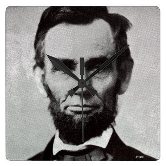 Portrait of Abe Lincoln 2 Square Wall Clock