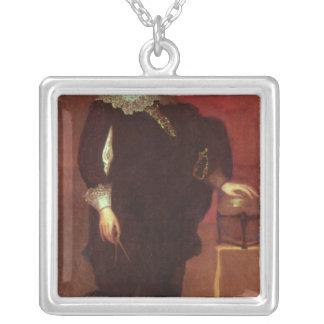 Portrait of Abel Janszoon Tasman Square Pendant Necklace