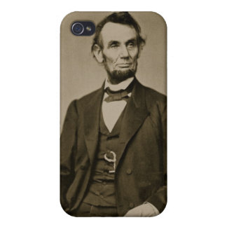 Portrait of Abraham Lincoln (1809-65) (b/w photo) Case For iPhone 4