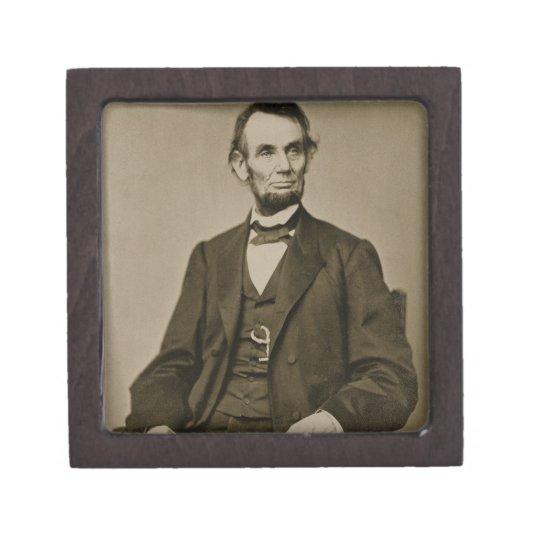 Portrait of Abraham Lincoln (1809-65) (b/w photo) Gift Box