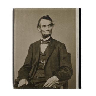 Portrait of Abraham Lincoln (1809-65) (b/w photo) iPad Folio Cover