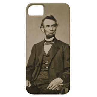 Portrait of Abraham Lincoln (1809-65) (b/w photo) iPhone SE/5/5s Case