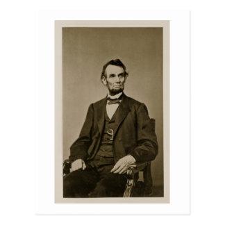 Portrait of Abraham Lincoln (1809-65) (b/w photo) Postcard