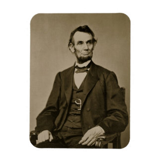 Portrait of Abraham Lincoln (1809-65) (b/w photo) Rectangular Magnets