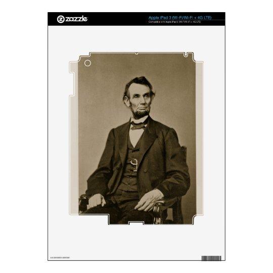 Portrait of Abraham Lincoln (1809-65) (b/w photo) Skin For iPad 3