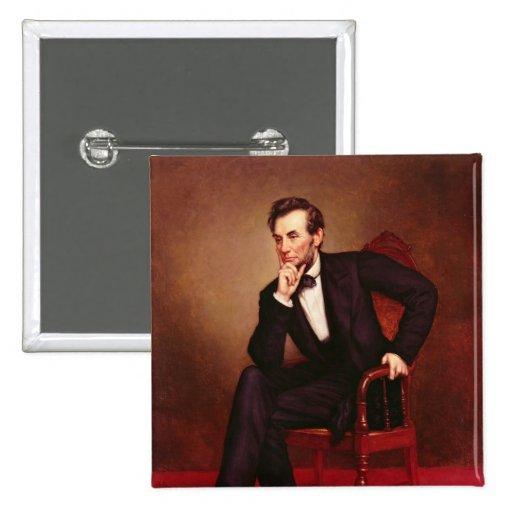Portrait of Abraham Lincoln 2 Inch Square Button