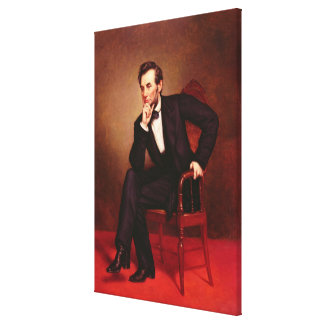 Portrait of Abraham Lincoln Canvas Print