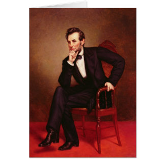Portrait of Abraham Lincoln Card