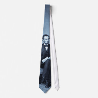 """Portrait of Abraham Lincoln"" selenium tint tie"
