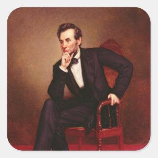 Portrait of Abraham Lincoln Square Sticker