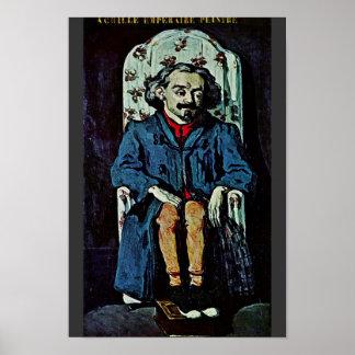 Portrait Of Achille Emperaire By Paul Cézanne Poster