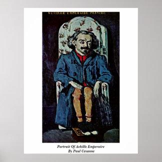 Portrait Of Achille Emperaire By Paul Cezanne Posters