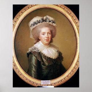 Portrait of Adelaide de France  1791 Poster