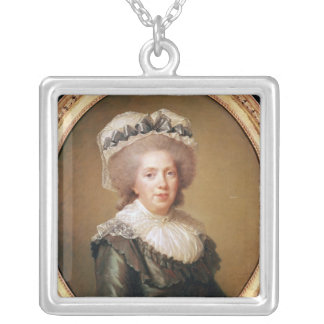 Portrait of Adelaide de France  1791 Silver Plated Necklace