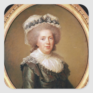 Portrait of Adelaide de France  1791 Square Sticker