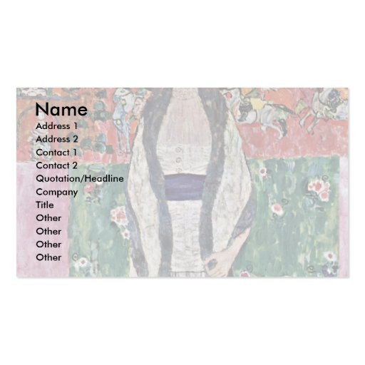 Portrait Of Adele Bloch-Bauer By Klimt Gustav Double-Sided Standard Business Cards (Pack Of 100)