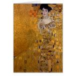 Portrait of Adele Bloch-Bauer by Klimt Note Card
