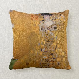 Portrait of Adele Bloch-Bauer by Klimt Throw Pillow